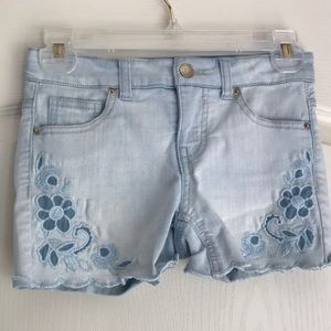 Kid's Embroidered Jean Shorts